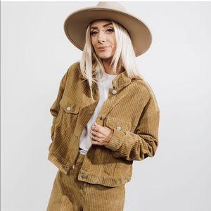 JOLENE - Wide Ribbed Corduroy Rancher Jacket